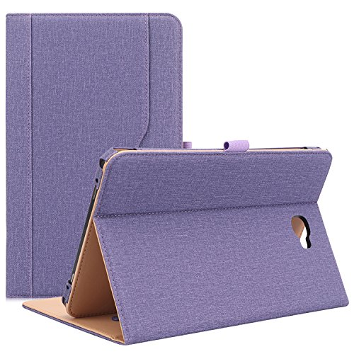ProCase Galaxy Tab A 10.1 Case 2016 Old Model, Stand Folio Case Cover for Galaxy Tab A 10.1 Tablet SM-T580 T585 T587 (NO S Pen Version) with Multiple Viewing Angles, Card Pocket -Purple