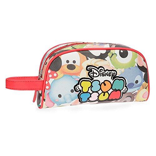 Disney Tsum Tsum Neceser Multicolor 21,5x12x5,5 cms Piel Sintética