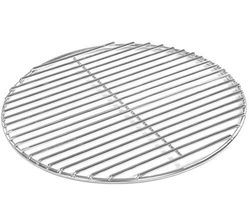 Grillrost Ø 34,5 cm aus Edelstahl rostfrei und elektropoliert 4mm für Grill rund, Kugelgrill, Feuerschalen Grillschalen Rundgrill