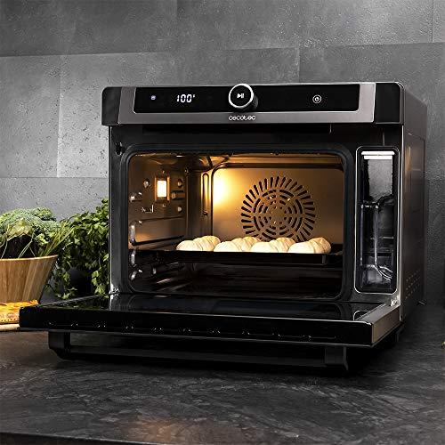 Cecotec Horno de Vapor Bake&Steam 3000 Combi. Horno 3 en 1 : función Vapor, convección y freidora de Aire, Capacidad de 30 litros, 7 Funciones de cocinado, Función Autolimpieza, Potencia 2220 W