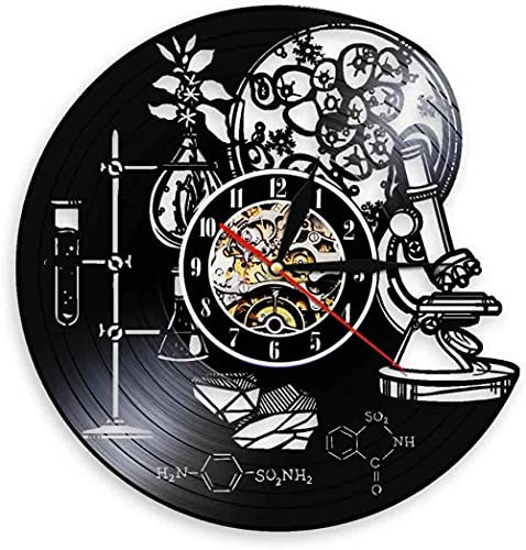 Wwbqcl Biochemical Science Circle Wanduhr Sauerstoff Vinyl Aufzeichnung Molekulare Chemie Formel Uhr Kinderzimmer Kinderzimmer Dekoration