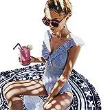 SEDEX Costume Intero Donna Increspatura Push Up Monokini Halter Profondo V Scollo Triangolo Sexy Costume da Bagno Beachwear dello Swimwear Imbottito da Spiaggia Mare e Piscina