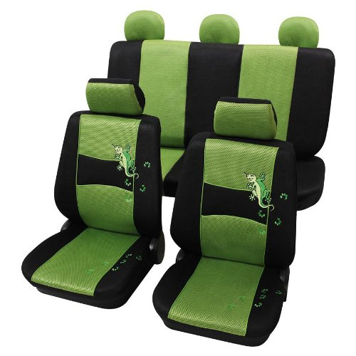 Eco Class Gecko grün 11 teilig Sitzbezug Schonbezüge Schonbezug Autoschonbezug Sitzbezüge