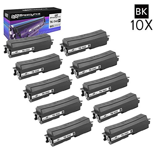 Speedy Inks Compatible Toner Cartridge Replacement for Kyocera-Mita Black TK-1142 (Black, 10-Pack)
