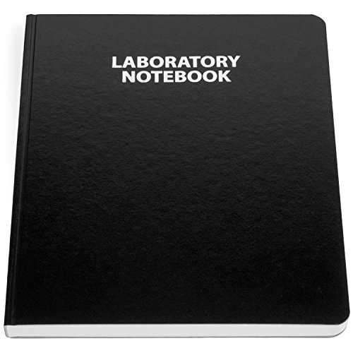 Scientific Notebook Company Flush Trimmed, Model #1201 Research Laboratory Notebook, 96 Pages, Smyth Sewn, 9.25 X 11.25, 4x4 Grid (Black Cover)