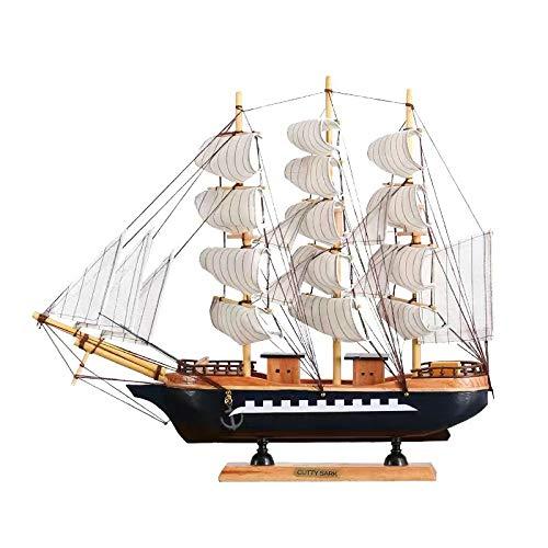 Decoración de Modelo de velero, Mini Pacific Sailer Sails Barco Modelo de Barco, Decoración náutica Modelo de Madera para Regalo