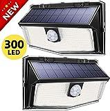 Solar Motion Sensor Light, 300 LED 3 Optional Modes, 270° Wide Angle Illumination