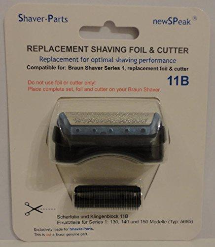 Braun hoja de afeitar y cortador de serie combi pack 1, 11B reemplazo (este no es un artículo original de Braun).