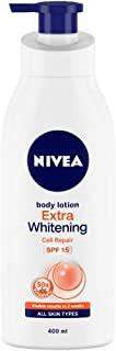 NIVEA Body Lotion, Extra Whitening Cell Repair SPF 15, For All Skin Types, 400ml