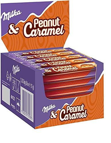 36 x Chocolade Reep Milka Peanut Caramel 37 gram