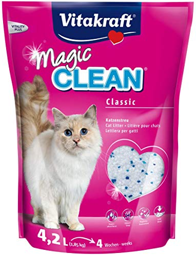 Vitakraft - Arena de silice para Gatos Magic Clean - 1.85 kg