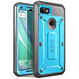 SUPCASE Unicorn Beetle PRO Series Phone Case for Google Pixel 2 XL, Full-Body Rugged Holster Case with Built-in Screen Protector for Google Pixel 2 XL 2017 Release (Blue)