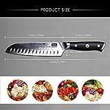 SHAN ZU Damast Santokumesser Kochmesser 67 Schichten Damastmesser Messer mit G10 Griff - PRO Series - 4