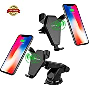 Wireless Car Charger, SHARLLEN Fast Charging Car Mount with Air Vent for Samsung Galaxy S9,S8, S7,S6/S7 Edge, Note 8/5, Standard Charge for iPhone X/8/8 Plus& Qi Enabled Devices
