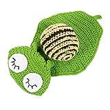 ABOOFAN Creativo Recién Nacido Fotografía Prop Outfit Lana Hilo de Punto Crochet Caracol Disfraz Tela Divertido Bebé Sesión de Fotos Accesorio Bebé Ducha Regalo 0-3 Meses