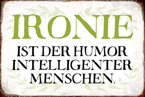 NWFS Spruch Ironie Blechschild Metallschild Schild Metal Tin Sign gewölbt lackiert 20 x 30 cm