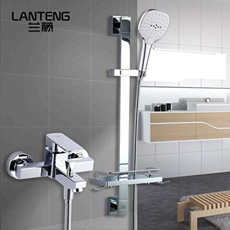 Küche oder Badezimmer Waschbecken Mixer einfache Dusche Hebel anheben, Edelstahl Hubrahmen Kit einstellbare Spitzenaufsatz eine 1 Tippen)  Mischbatterie Dusche + Quadrat Taste Heben Dusch-kit