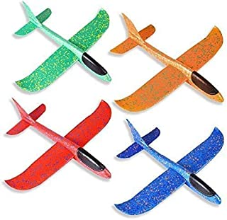 Zweefvliegtuigen Voor Kinderen,Piepschuimvliegtuig 4 Stuks, Schuimvliegtuig,Speelgoedvliegtuig,Handmatig Werpvliegtuig, Ha...