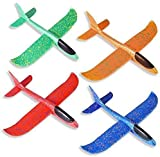 LOVEXIU Segelflugzeug,Flugzeug Styropor ,Styroporflieger, Wurfgleiter Styroporflieger, Wurfflugzeug Kinder,Manuelles Flugzeug Spielzeug für Kinder, 4 Farben