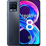 realme 8 Pro Mobile Phone, Sim Free Unlocked Smartphone with 108MP Ultra Quad Camera, 6.4'' Super Amoled Fullscreen, 50W SuperDart Charge, 4500mAh Battery, Dual Sim, NFC, 8+128GB, Infinite Black