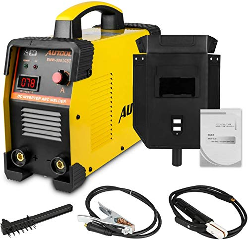 AUTOOL EMW-508 Arc Inverter Welder IGBT 20-160A Handheld Intelligent Welding Machine Assembly Support 1/8 Inch Welding Rod 110V-240V