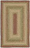Safavieh Braided Collection BRD303A Hand-woven Reversible Area Rug, 2' 6' x 4', Rust/Multi