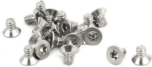 tornillos de acero inoxidable 80 unidades Tornillos de cabeza plana para m/áquina M3 x 16 mm tornillo hexagonal interior 304 Sourcingmap