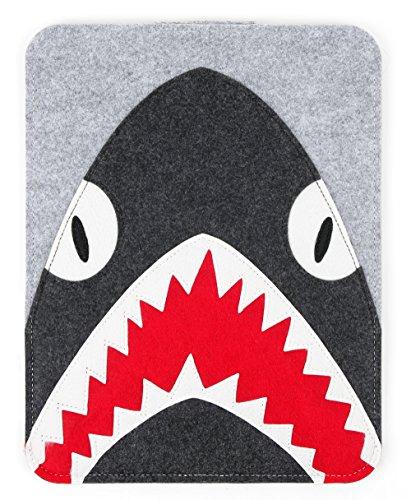 DURAGADGET Funda Gris de Fieltro con diseño de tiburón Compatible con Portátil Apple MACBOOK Pro 13', Apple MACBOOK Air (2021)