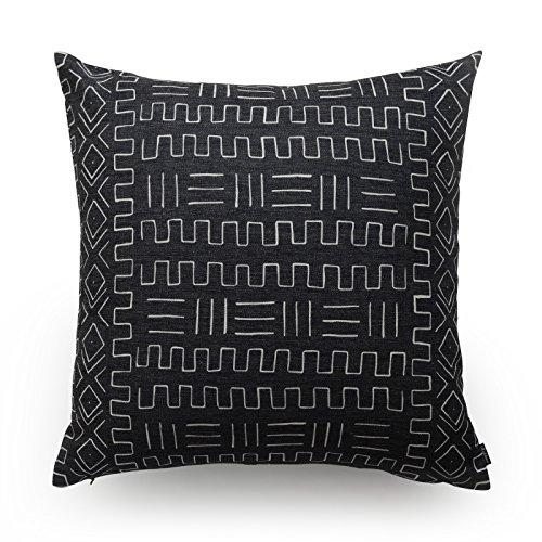 hofdeco manta decorativa y funda de almohada Lumbar gamuza de barro africana en Bogolan impreso patrón pesado peso tela funda de cojín 18x 1820x 12cm
