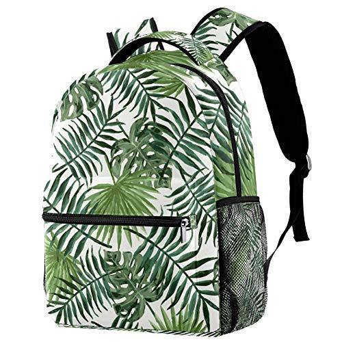 Mochila con patrón de palmera verde para adolescentes, escuela, libros, viajes, casual, mochila Multicolor 01 29.4x20x40cm/11.5x8x16 in