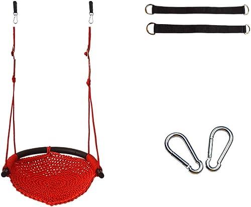Kinderschaukel Indoor und Outdoor Kinder Spielzeug Home Schaukel Outdoor Outdoor Baby Stuhl Baby Seil Net Seat (Farbe   rot)