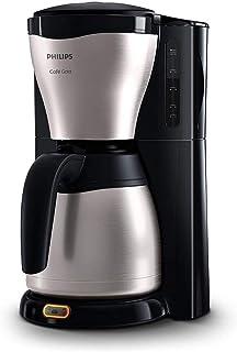 Philips Koffiezetapparaat Café Gaia - Zet 2 tot 15 kopjes - Met metalen thermische kan - Waterreservoir 1.2 liter - Druppe...