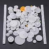 75 tipo engranaje de corona de plástico engranaje de tornillo sinfín de reducción doble solo