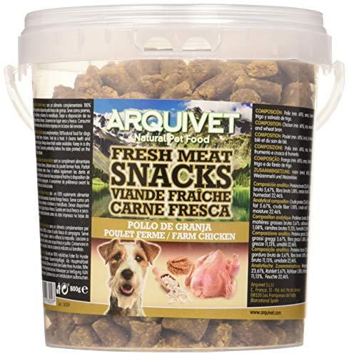 Arquivet Snacks para perro Carne fresca de pollo de granja 800 g