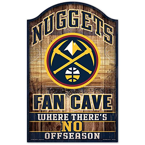 Wincraft NBA Denver Nuggets 38396012Wood Sign, 27,9x 43,2cm, Nero
