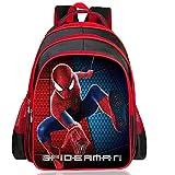 Bambini Backpack- Spider-Man Zaini Scuola Elementare Zaino del Fumetto del Ragazzo del Bambino 6-11 Anni -Vecchio Asilo Cartella di Seguito 20L - Articoli da Regalo Scuola Stagionale 3