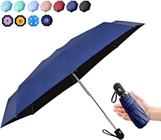 Travel Mini Umbrella Windproof Automatic Umbrellas Auto Open Close Lightweight Portable Sun&Rain Floding Compact Umbrella for Women Men Kids(Navy)