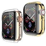 HENGBOK Coque Mince Souple pour Apple Watch 42mm série 3/2/1, [2 pièces] iWatch Protection...