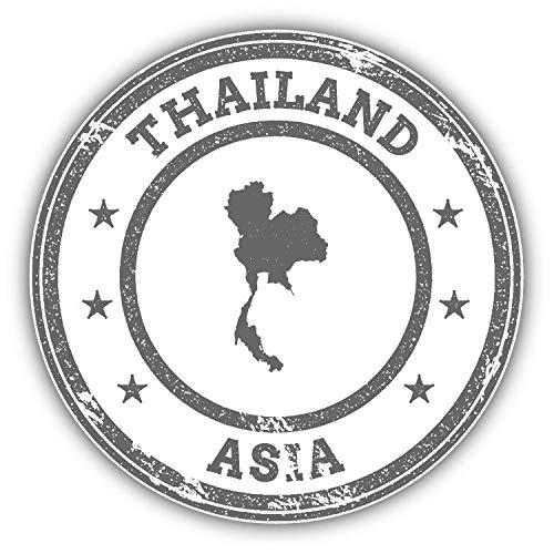 Tamengi Thailand Map Asia Grunge Rubber Stamp Car Bumper Sticker Decal 5 '' x 5 ''