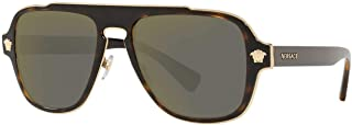 Versace Mens Sunglasses Tortoise/Gold Metal - Non-Polarized - 56mm