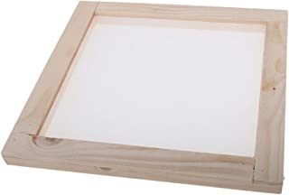 CUTICATE Wood Paper Making Frame Papermaking Mold Rectangular Mould Frame with Semitransparent Mesh for DIY Crafts - 20x20cm
