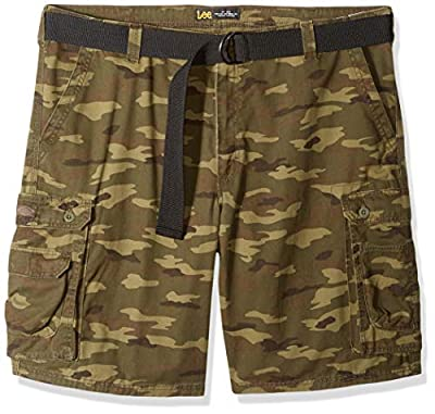 LEE Men's Big and Tall Big & Tall Dungarees New Belted Wyoming Cargo Short, Combat camo, 50 by Lee