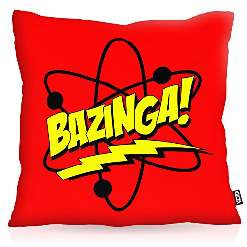 VOID Sheldon Atome Oreiller avec motif taie d'oreiller housse outdoor indoor cooper physique, Kissen Größe:50 x 50 cm