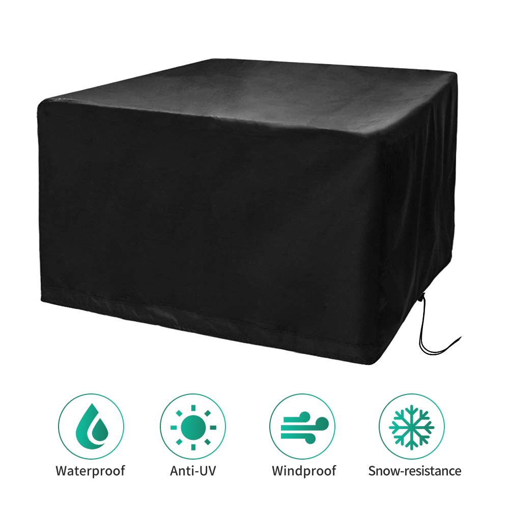 CosyInSofa Funda para Muebles de Jardín, Copertura Impermeable para Mesas Rectangular, Funda Protectora Anti-UV para Patio Muebles Sillas Sofás Mesas Cubierta de Exterior Oxford (126x126x74cm): Amazon.es: Jardín