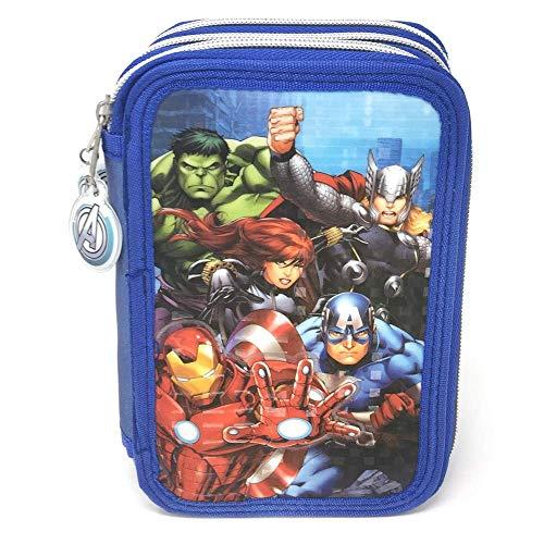 Los Vengadores Marvel Estuche plumier de Tres Pisos (AST1548)