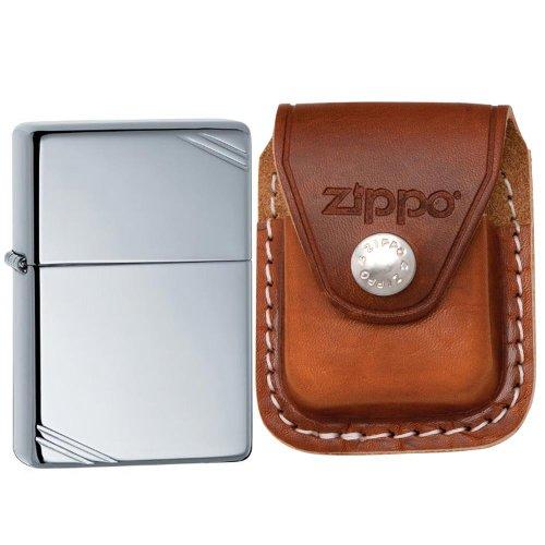 Zippo Vintage-Feuerzeug, poliertes Chrom