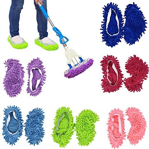 6 Pares de Fundas Para Zapatillas de Mopa, Fregona Ultrafina Multifuncional, Fregona Limpiaparabrisas, Polvo, Zapatillas, Zapatos de Limpieza, Baño, Oficina, Cocina, Limpieza de Pulido de La Casa