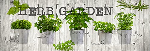 artissimo, Dekopanel, Deco Panel, ca. 90x30cm, PE5820-PA, Küche: Herb Garden, Bild, Wandbild, Wanddeko, Wanddekoration, Poster auf Decopanel