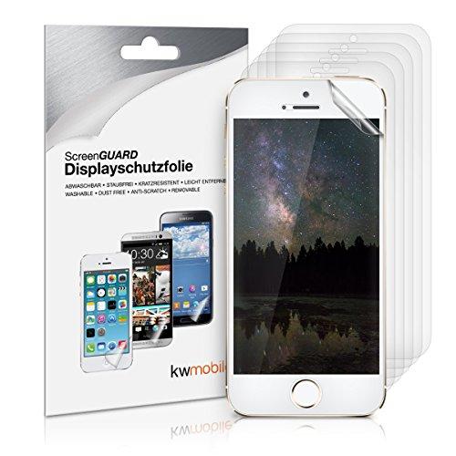6x pellicola protettiva display per Apple iPhone 5 / 5S / 5C TRASPARENTE - qualit� premium firmata kwmobile