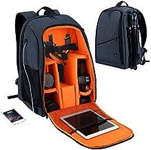 MUMAIS Canada Style 2021 Made Camera Backpack Bag Compatible(Canon Sony Nikon) Rain Cover Waterproof Shockproof Outdoor Photography Hiking Travel Camera for DSLR/SLR,Nylon(Grey)